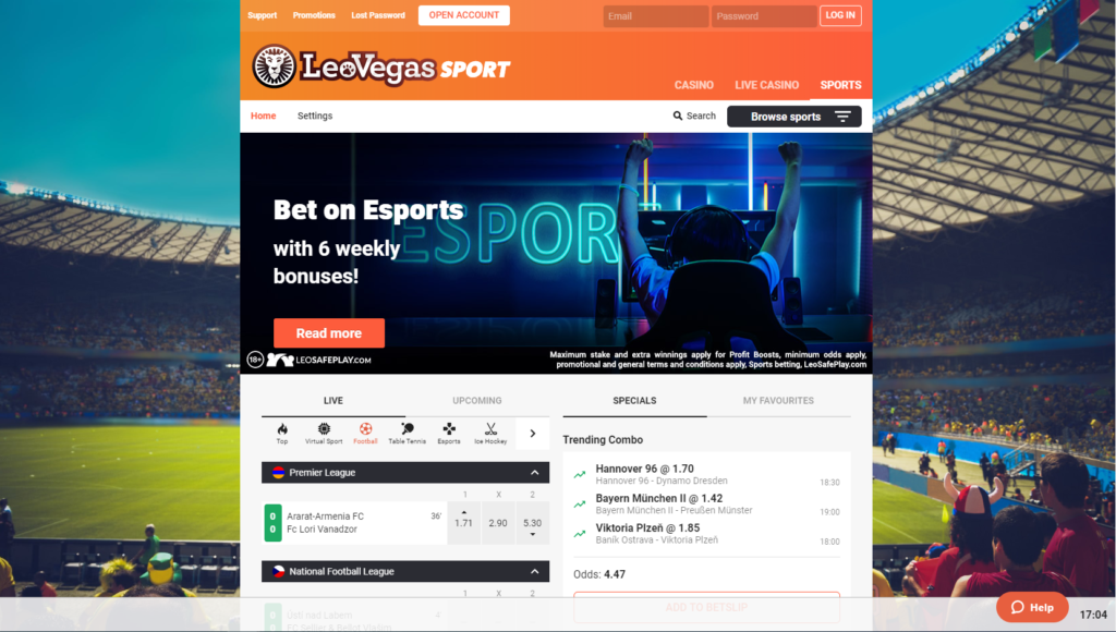 Cricket betting Leovegas website